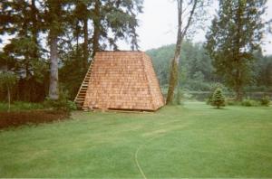 Cedar Shake Clad Pump House